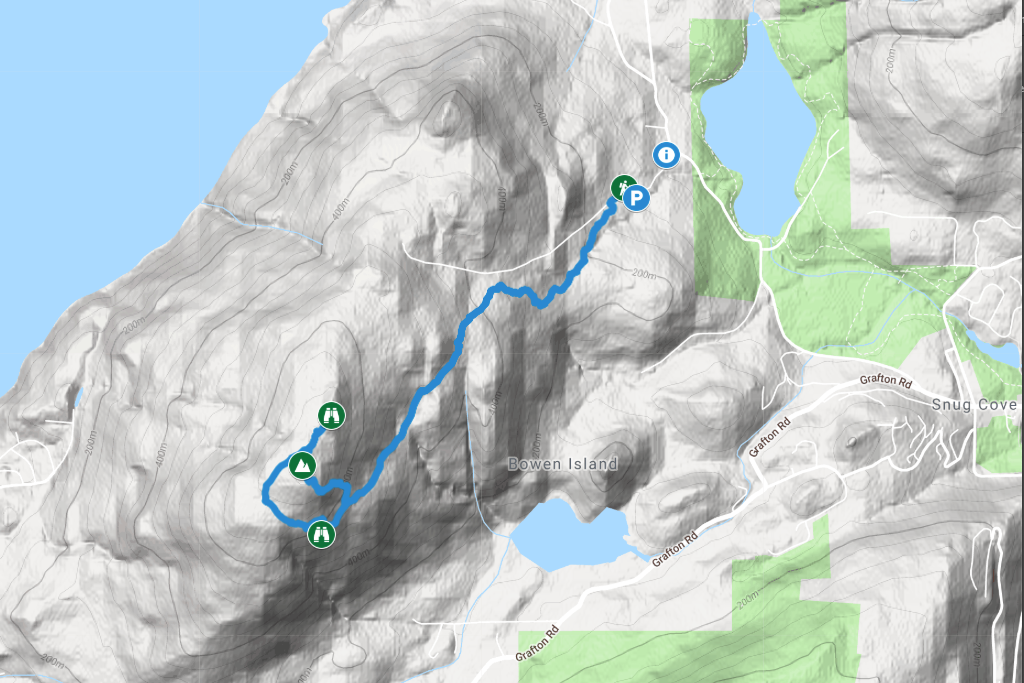 Mount Gardner Hiking Map