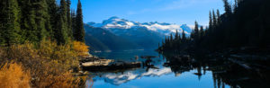 Garibaldi Lake - view of snow-capped mountains and pristine turquoise lake