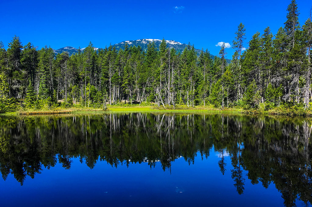 Picture of a pothole lake on the Sea to Sky Trail (Brandywine Falls to Whistler Bungee Bridge)
