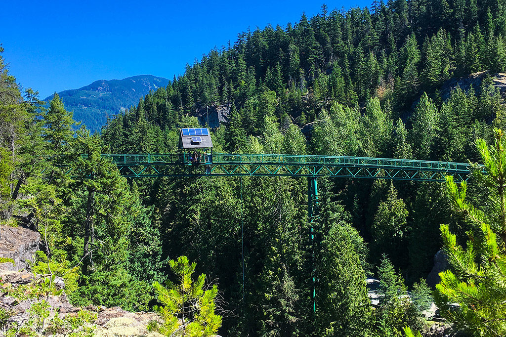 Whistler Bungee Bridge. 50 metres over the Cheakamus River.