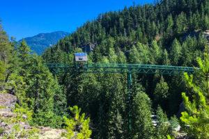Whistler Bungee Bridge. 50 metres over the Cheakamus River.