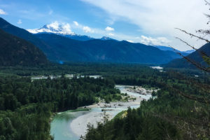 View of Squamish River Valley from the Hiking Trail to Crooked Falls