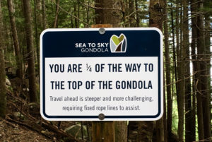 Sea to Sky Trail Sign