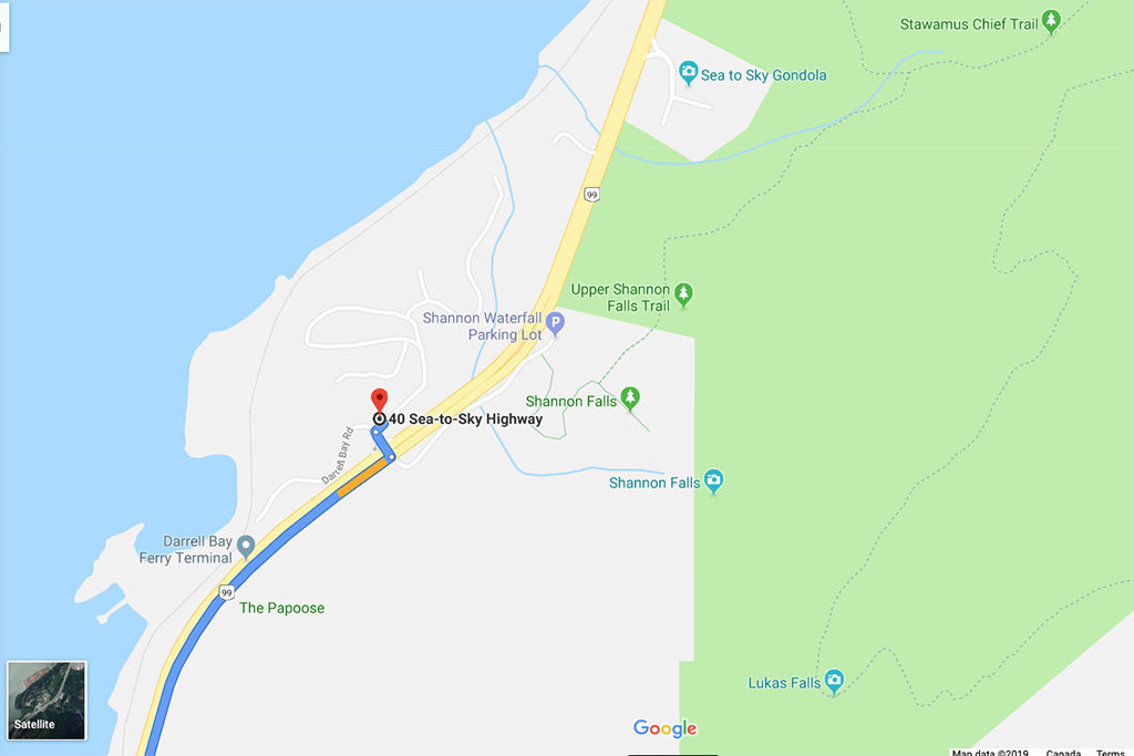 Google Map Directions to Sea to Summit Parking