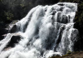 An image of the Crooked Falls Waterfall at the end of the Crooked Falls Hike near Squamish, BC